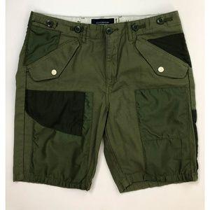 Scotch & Soda Cargo Shorts Men's 32W Green B99-03P